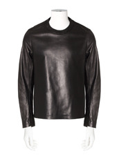 RAINMAKER crewneck leather shirt