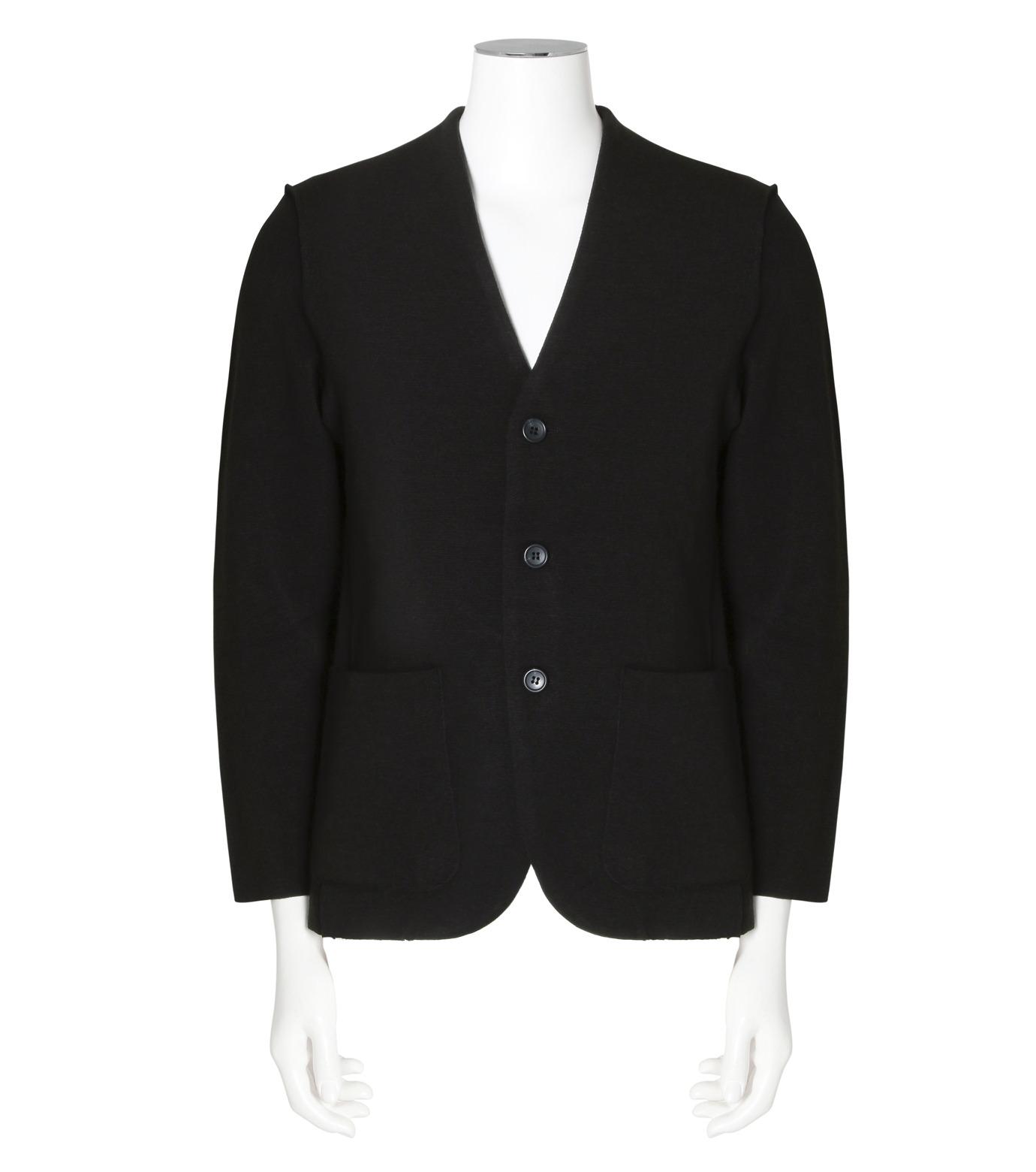 RAINMAKER(レインメーカー)のrib nocollar jacket-BLACK(ジャケット/jacket)-RM162-006-13 拡大詳細画像1