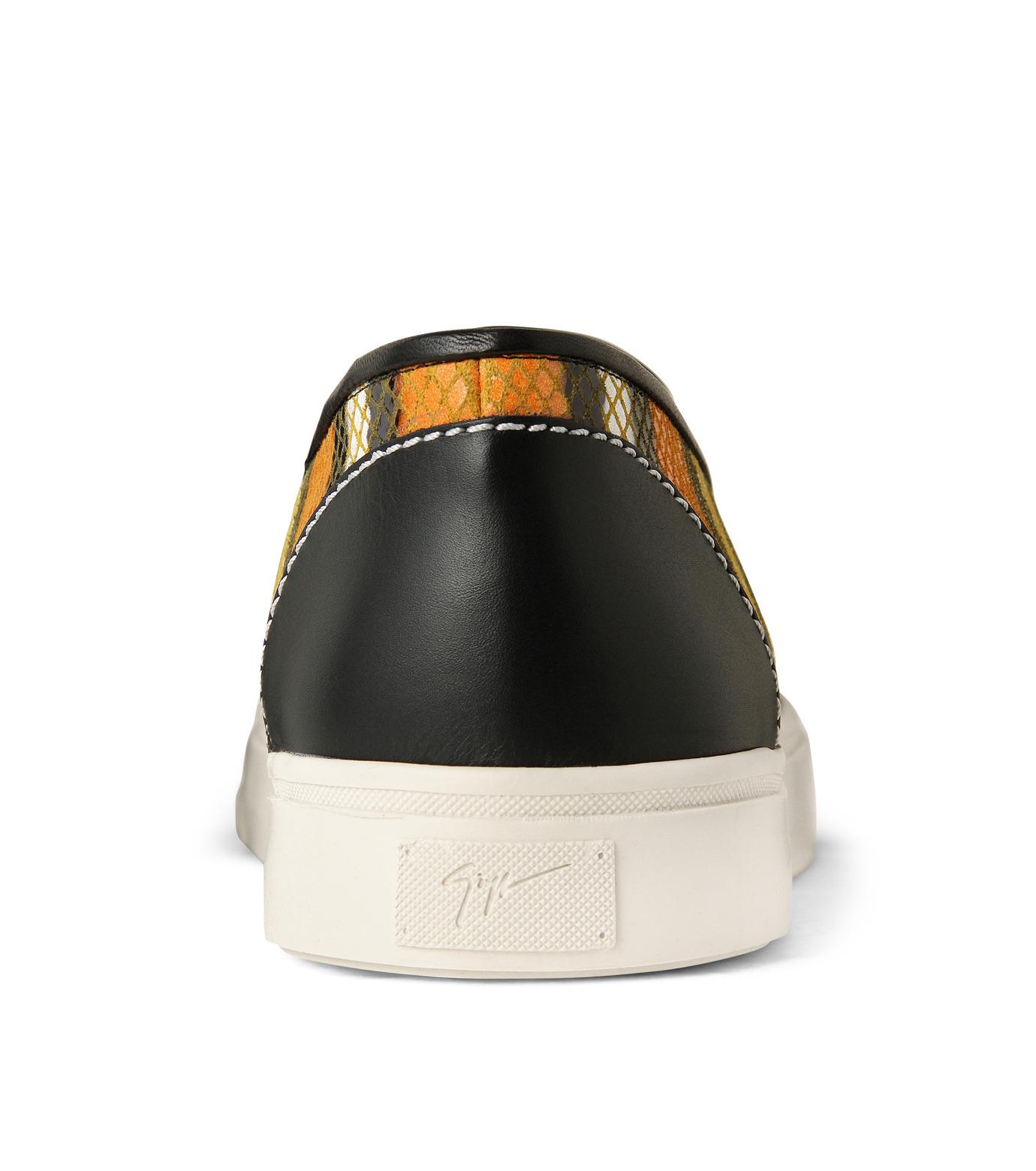 Giuseppe Zanotti Design(ジュゼッペザノッティ)のStripe Slip-On Sneaker-RED(シューズ/shoes)-RM5043MD-62 拡大詳細画像2