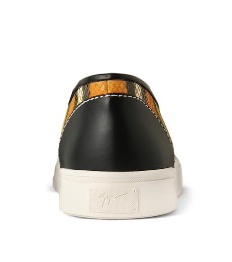 Giuseppe Zanotti Design(ジュゼッペザノッティ)のStripe Slip-On Sneaker-RED(シューズ/shoes)-RM5043MD-62 詳細画像2