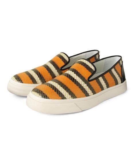 Giuseppe Zanotti Design(ジュゼッペザノッティ)のStripe Slip-On Sneaker-RED(シューズ/shoes)-RM5043MD-62 詳細画像3