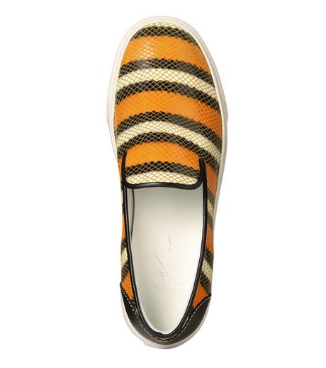 Giuseppe Zanotti Design(ジュゼッペザノッティ)のStripe Slip-On Sneaker-RED(シューズ/shoes)-RM5043MD-62 詳細画像4