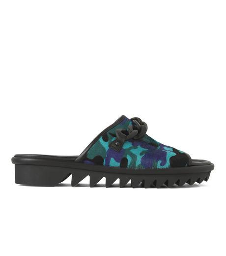 Giuseppe Zanotti Design(ジュゼッペザノッティ)のBaby Fur Camouflage Slippers-BLUE(シューズ/shoes)-RM5067LO-T-92 詳細画像1