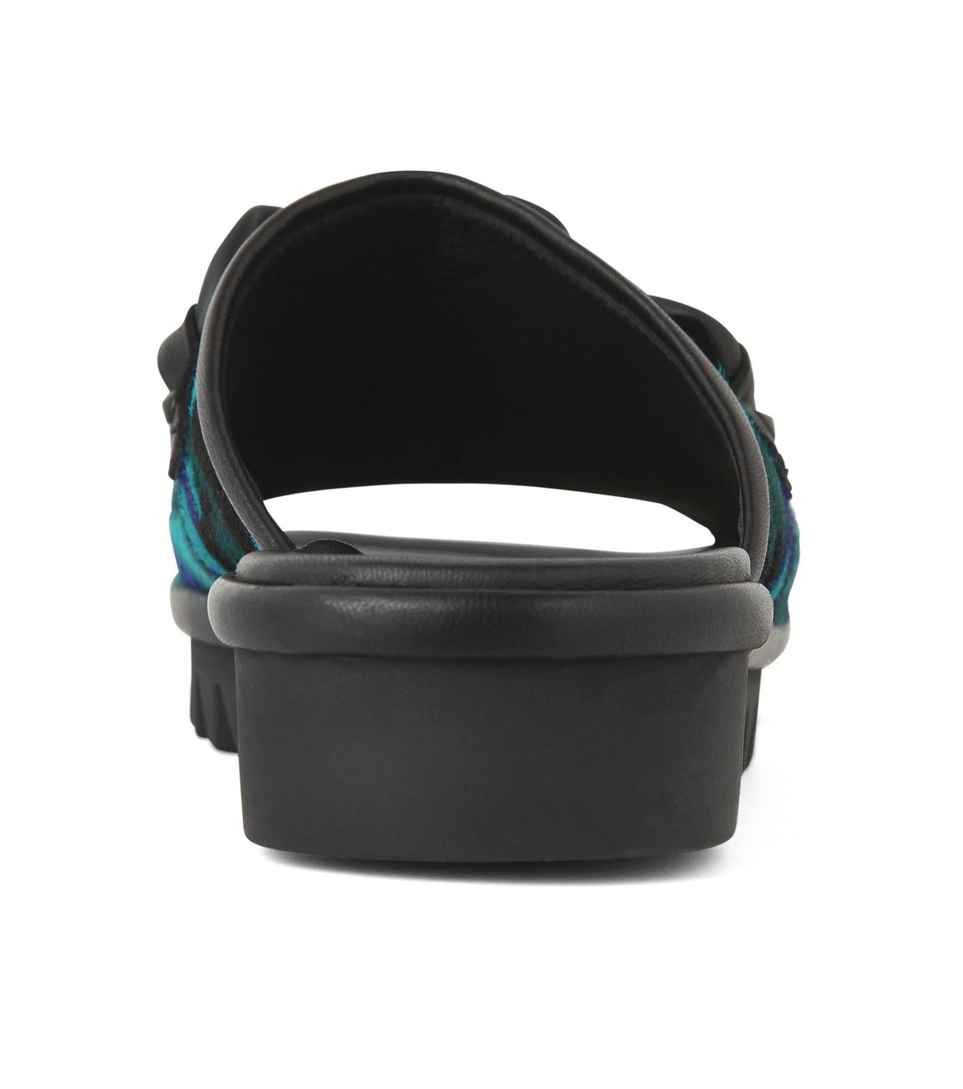 Giuseppe Zanotti Design(ジュゼッペザノッティ)のBaby Fur Camouflage Slippers-BLUE(シューズ/shoes)-RM5067LO-T-92 拡大詳細画像2