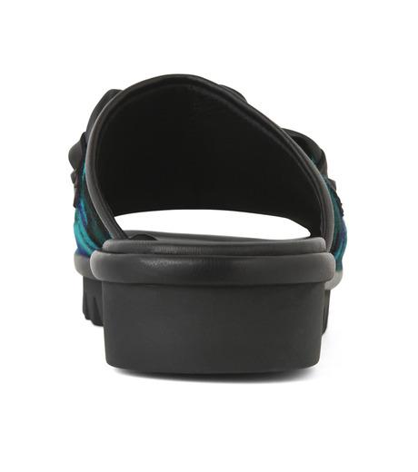 Giuseppe Zanotti Design(ジュゼッペザノッティ)のBaby Fur Camouflage Slippers-BLUE(シューズ/shoes)-RM5067LO-T-92 詳細画像2