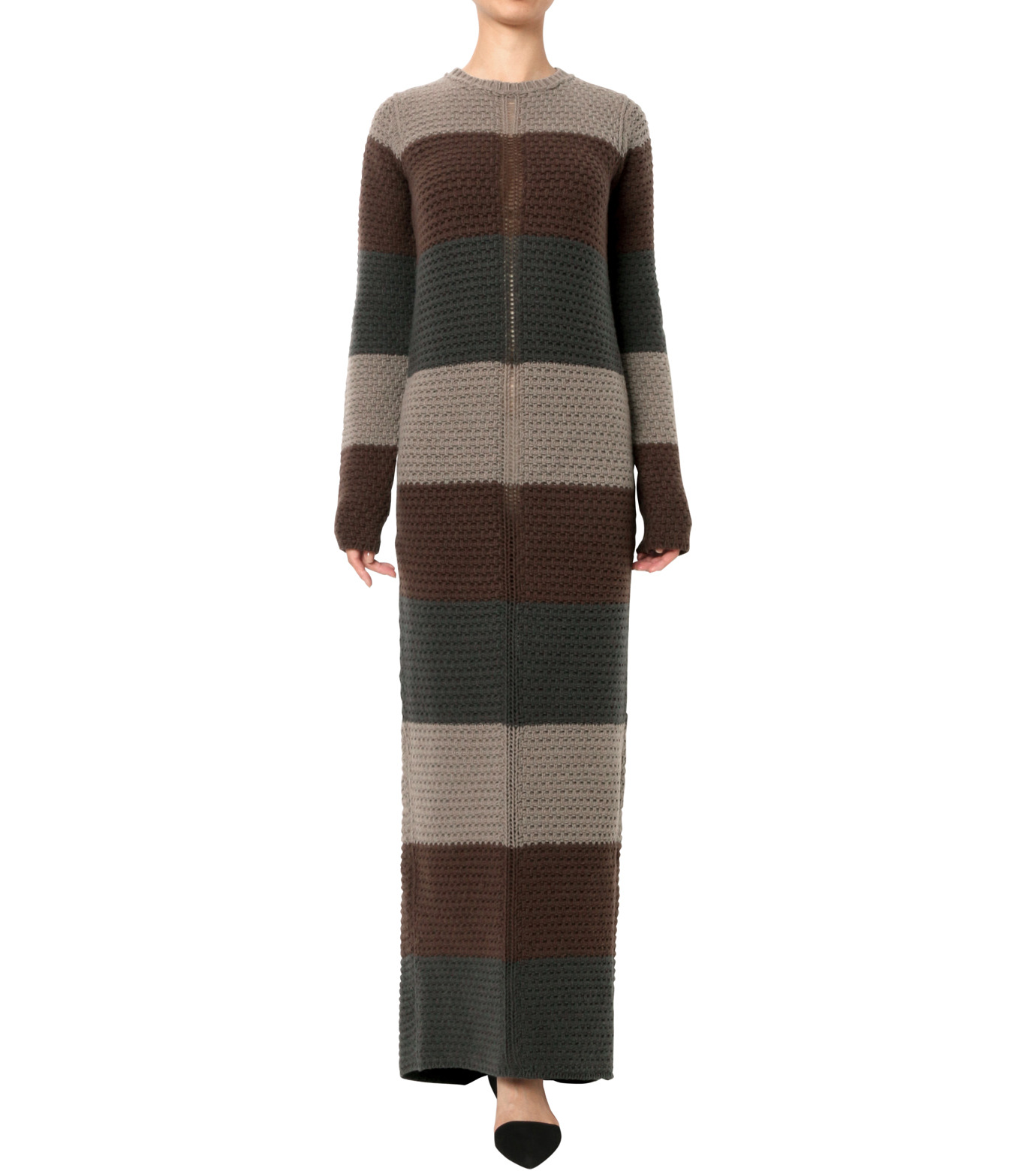 Rick Owens(リックオウエンス)のPitti Stripes Knit Long Dress-MULTI COLOUR(ニット/knit)-RP16F2655HGC-9 拡大詳細画像1