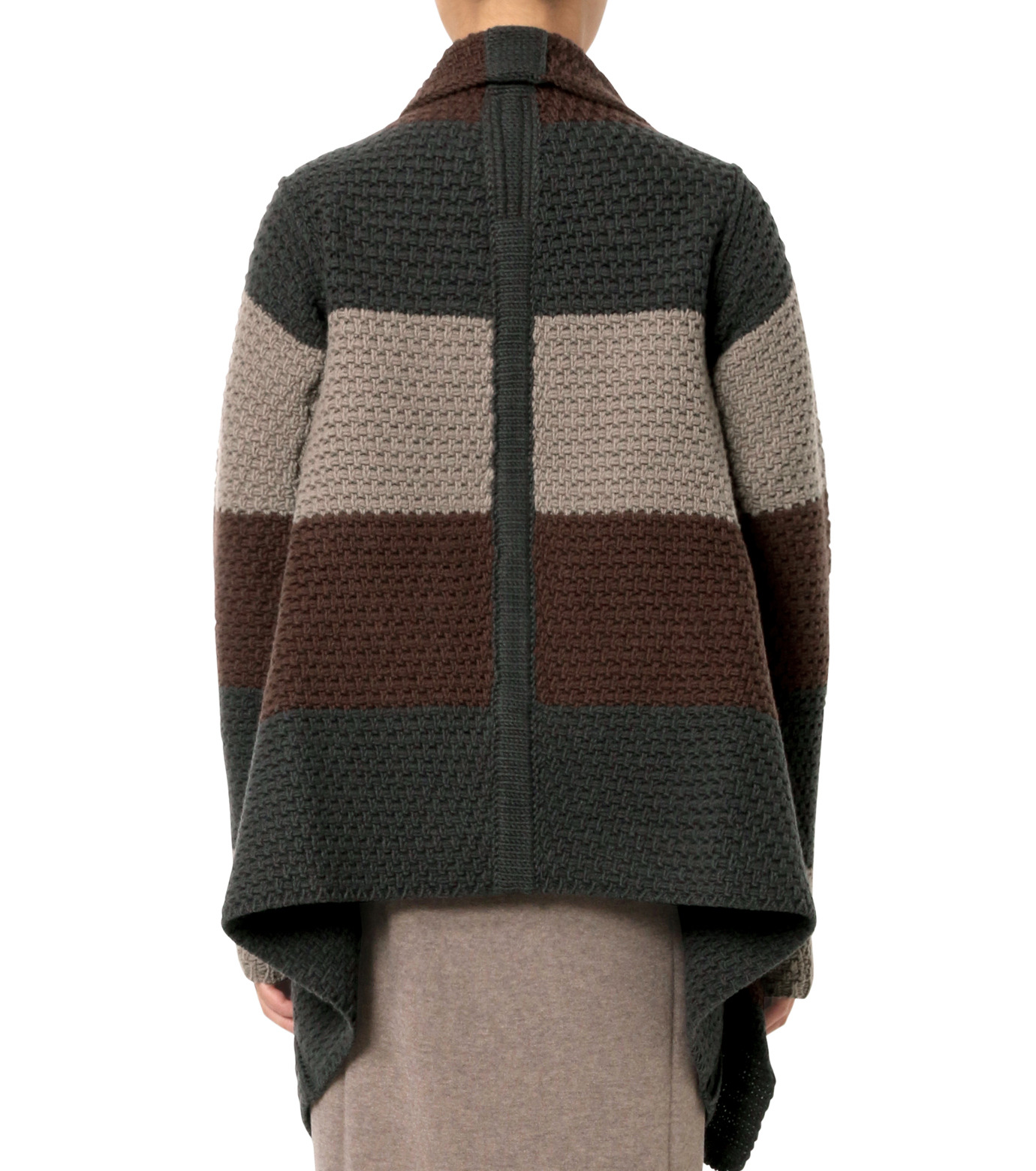 Rick Owens(リックオウエンス)のPitti Stripe Long Cardigan Jkt-MULTI COLOUR(ニット/knit)-RP16F2657HGC-9 拡大詳細画像2