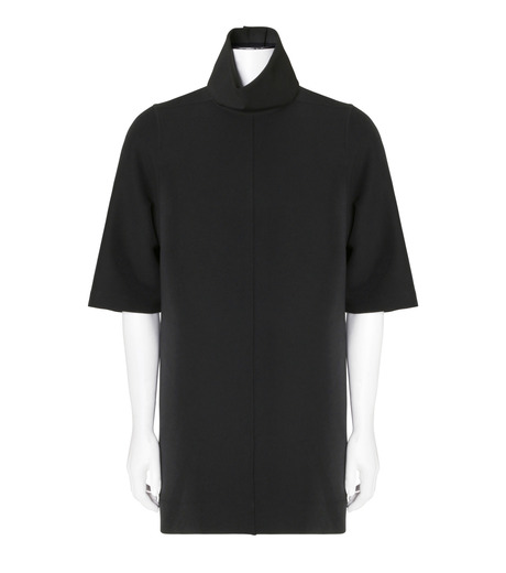 Rick Owens(リックオウエンス)のNeoprane Hineck-BLACK(カットソー/cut and sewn)-RU16F6271D-13 詳細画像1