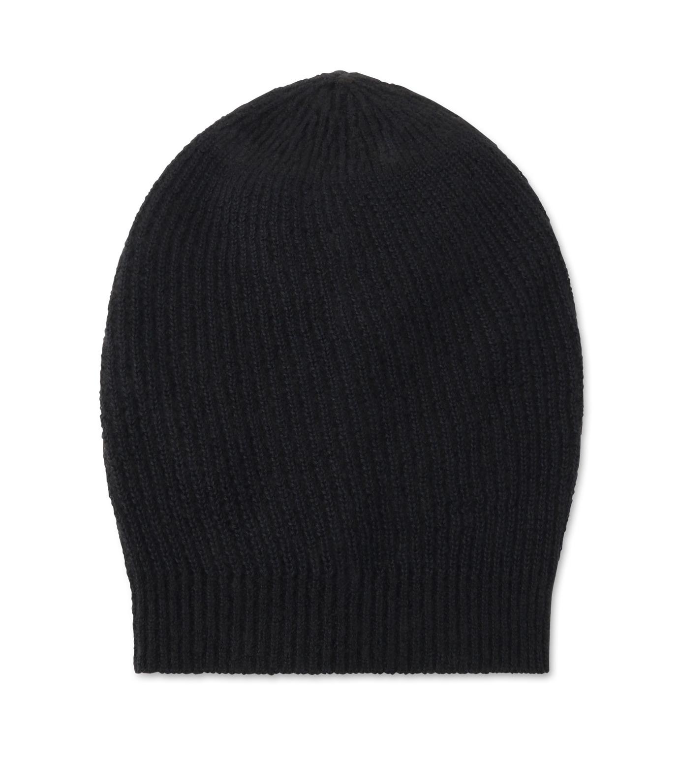 Rick Owens(リックオウエンス)のCashmere Knitcap-BLACK(キャップ/cap)-RU16F6494WSL-13 拡大詳細画像1