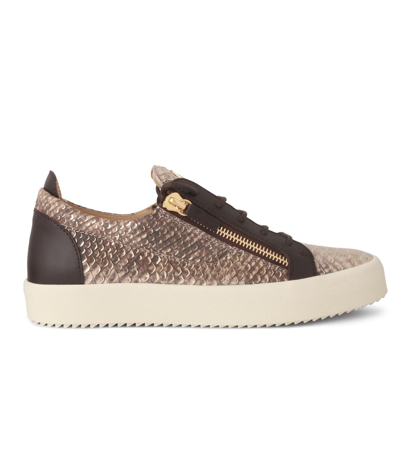 Giuseppe Zanotti Design(ジュゼッペザノッティ)のPython Pattern Sneaker-GOLD(スニーカー/sneaker)-RU6004-2 拡大詳細画像1