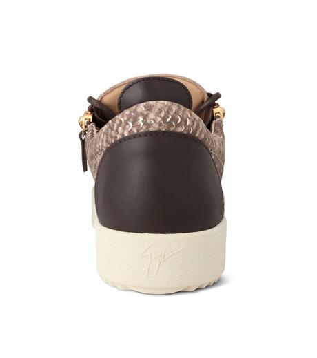 Giuseppe Zanotti Design(ジュゼッペザノッティ)のPython Pattern Sneaker-GOLD(スニーカー/sneaker)-RU6004-2 詳細画像2