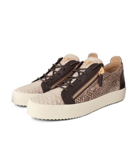 Giuseppe Zanotti Design(ジュゼッペザノッティ)のPython Pattern Sneaker-GOLD(スニーカー/sneaker)-RU6004-2 詳細画像3