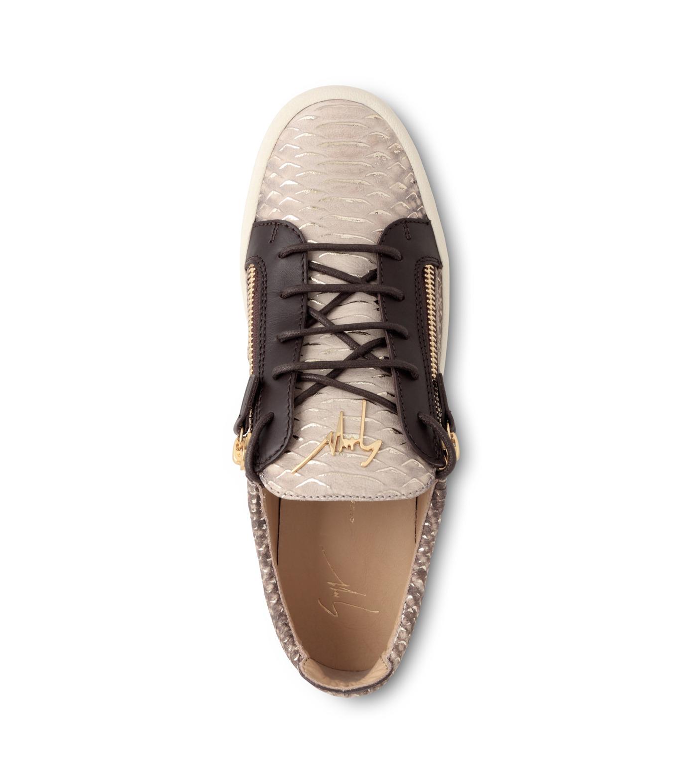 Giuseppe Zanotti Design(ジュゼッペザノッティ)のPython Pattern Sneaker-GOLD(スニーカー/sneaker)-RU6004-2 拡大詳細画像4