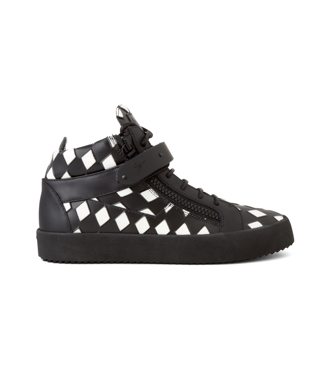 Giuseppe Zanotti Design(ジュゼッペザノッティ)のCherckerflag Sneaker-BLACK(スニーカー/sneaker)-RU6074-13 拡大詳細画像1