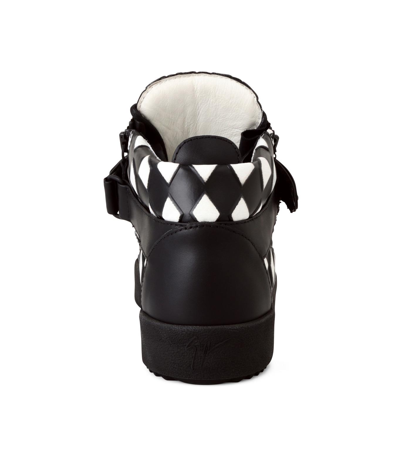 Giuseppe Zanotti Design(ジュゼッペザノッティ)のCherckerflag Sneaker-BLACK(スニーカー/sneaker)-RU6074-13 拡大詳細画像2