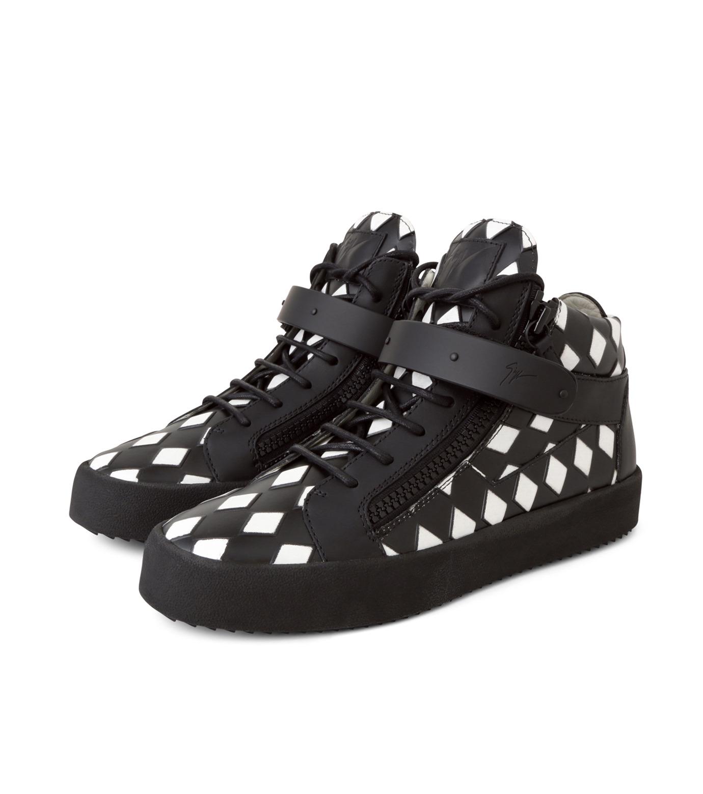 Giuseppe Zanotti Design(ジュゼッペザノッティ)のCherckerflag Sneaker-BLACK(スニーカー/sneaker)-RU6074-13 拡大詳細画像3