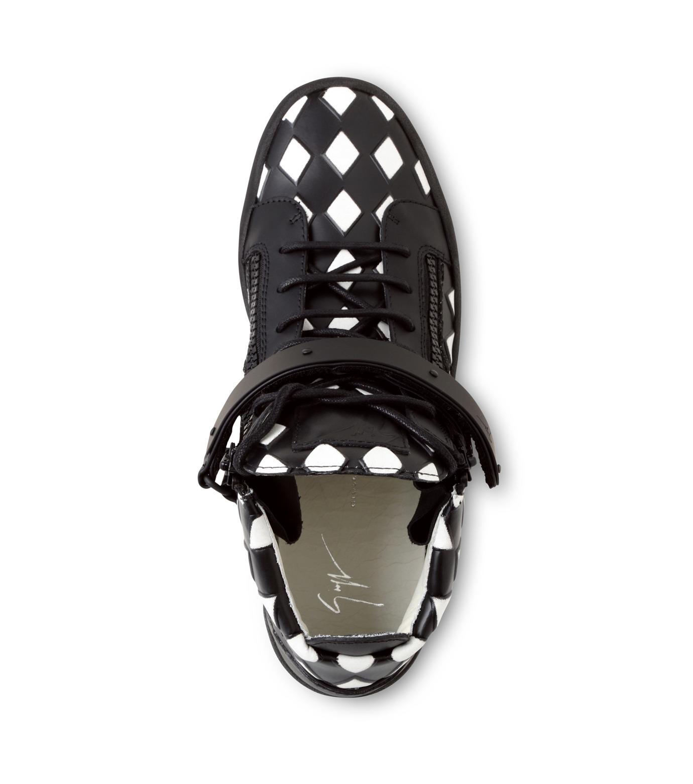 Giuseppe Zanotti Design(ジュゼッペザノッティ)のCherckerflag Sneaker-BLACK(スニーカー/sneaker)-RU6074-13 拡大詳細画像4