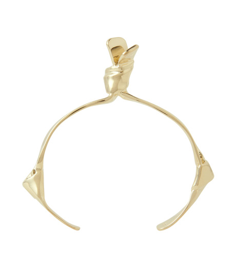 Jennifer Fisher(ジェニファーフィッシャー)のSingle Ribbon Cuff-GOLD-Ribbon-Cuff-2 詳細画像2