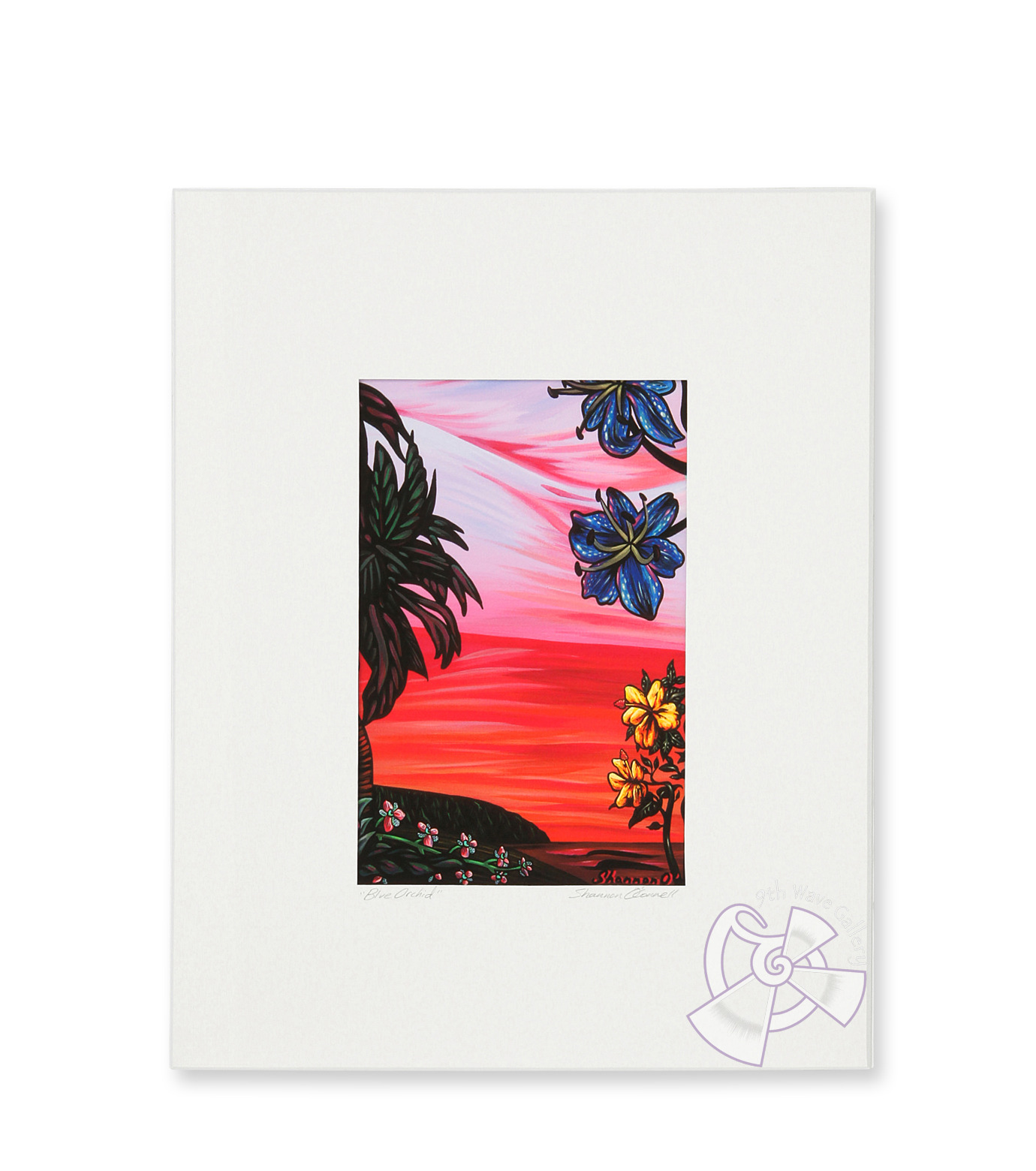 9th Wave Gallery(9th ウェイブ ギャラリー)のBlue orchid (mini giclee)-NONE-S-PrM-Blue-0 拡大詳細画像1