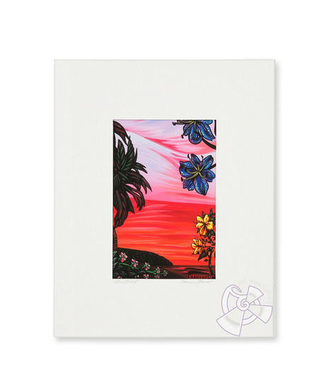9th Wave Gallery(9th ウェイブ ギャラリー)のBlue orchid (mini giclee)-NONE-S-PrM-Blue-0 詳細画像1