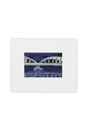 9th Wave Gallery Haleiwa night (Mini Print)