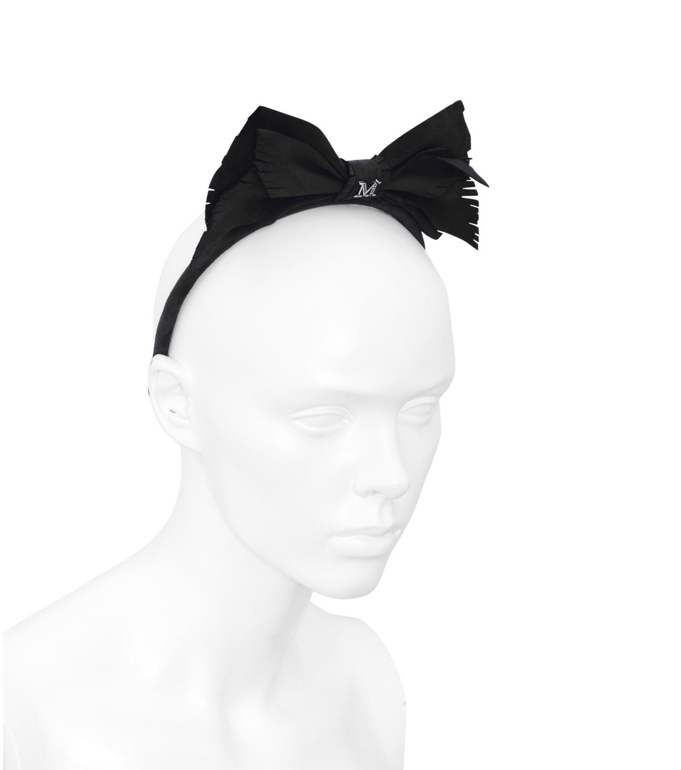 Maison Michel(メゾン ミシェル)のMartine Suede Bow-BLACK(HAIR ACCESSORIES/HAIR ACCESSORIES)-S14096-13 拡大詳細画像3
