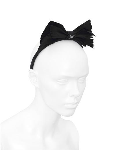 Maison Michel(メゾン ミシェル)のMartine Suede Bow-BLACK(HAIR ACCESSORIES/HAIR ACCESSORIES)-S14096-13 詳細画像3