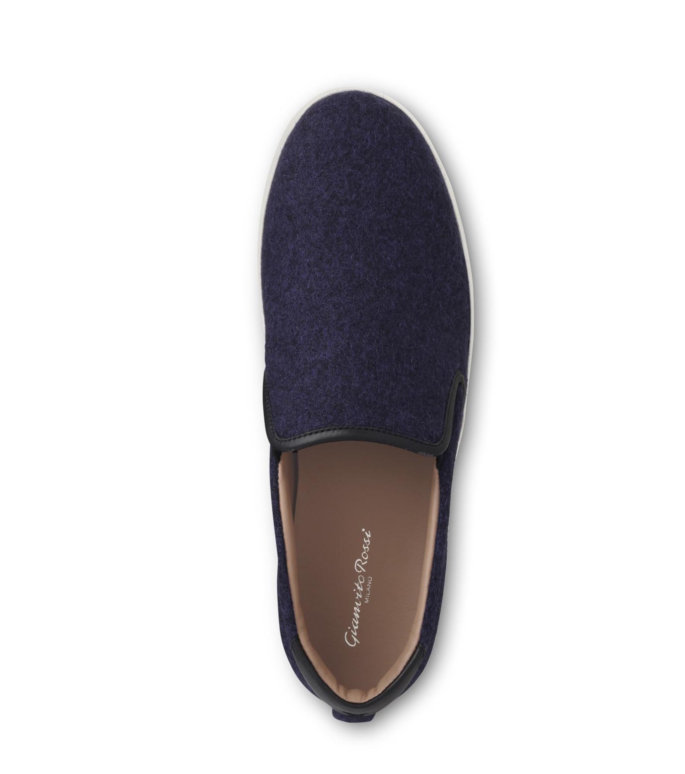 Gianvito Rossi(ジャンヴィト ロッシ)のSlippon Sneaker-BLUE(スニーカー/sneaker)-S20261-M-FEC-92 拡大詳細画像4