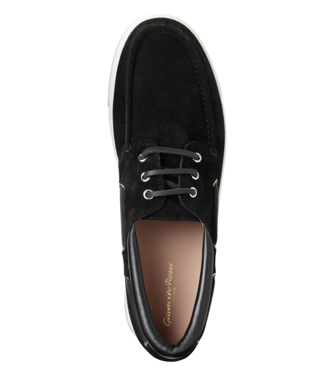 Gianvito Rossi(ジャンヴィト ロッシ)のMiddle Cut Deck Shoes-BLACK(シューズ/shoes)-S20966-13 拡大詳細画像5