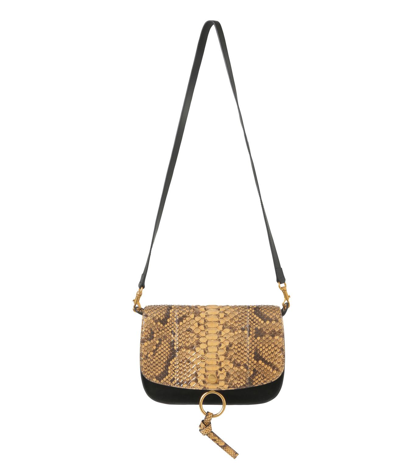 Chloe(クロエ)のKurtis Python Shoulder Bag-BLACK(ショルダーバッグ/shoulder bag)-S238H9XB-13 拡大詳細画像1