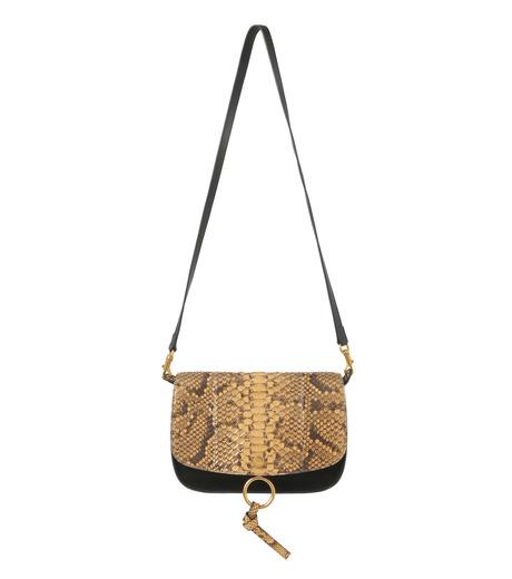 Chloe(クロエ)のKurtis Python Shoulder Bag-BLACK(ショルダーバッグ/shoulder bag)-S238H9XB-13 詳細画像1