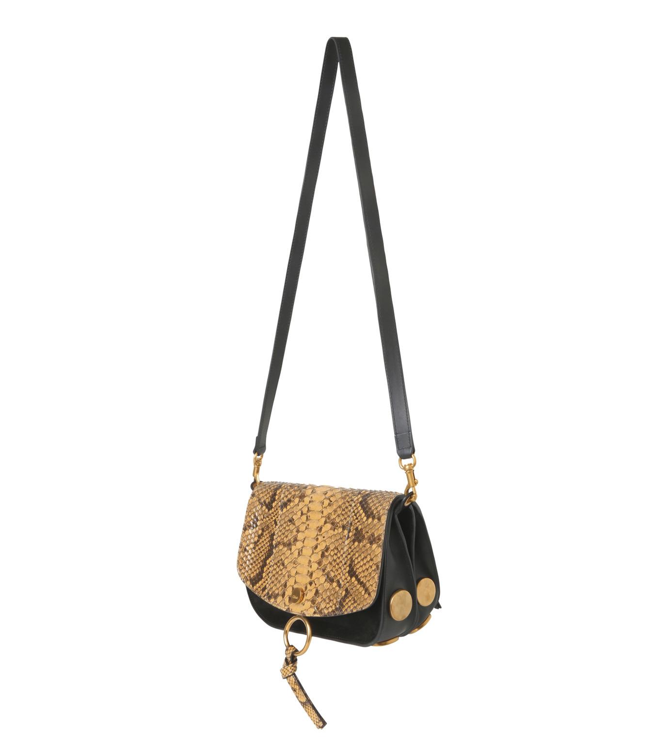 Chloe(クロエ)のKurtis Python Shoulder Bag-BLACK(ショルダーバッグ/shoulder bag)-S238H9XB-13 拡大詳細画像2