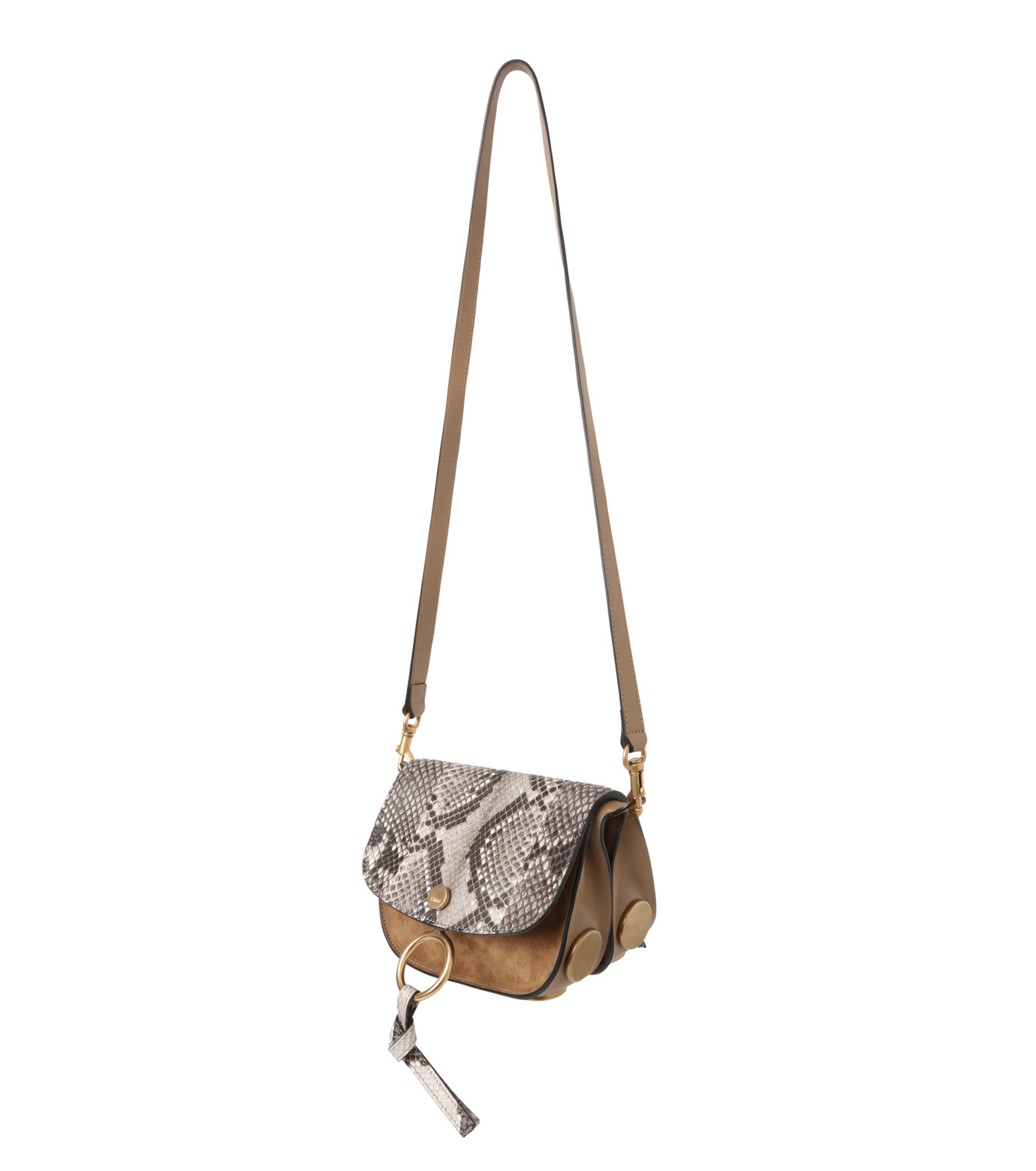 Chloe(クロエ)のKurtis Python Shoulder Bag-BEIGE(ショルダーバッグ/shoulder bag)-S239H8VB-52 拡大詳細画像2