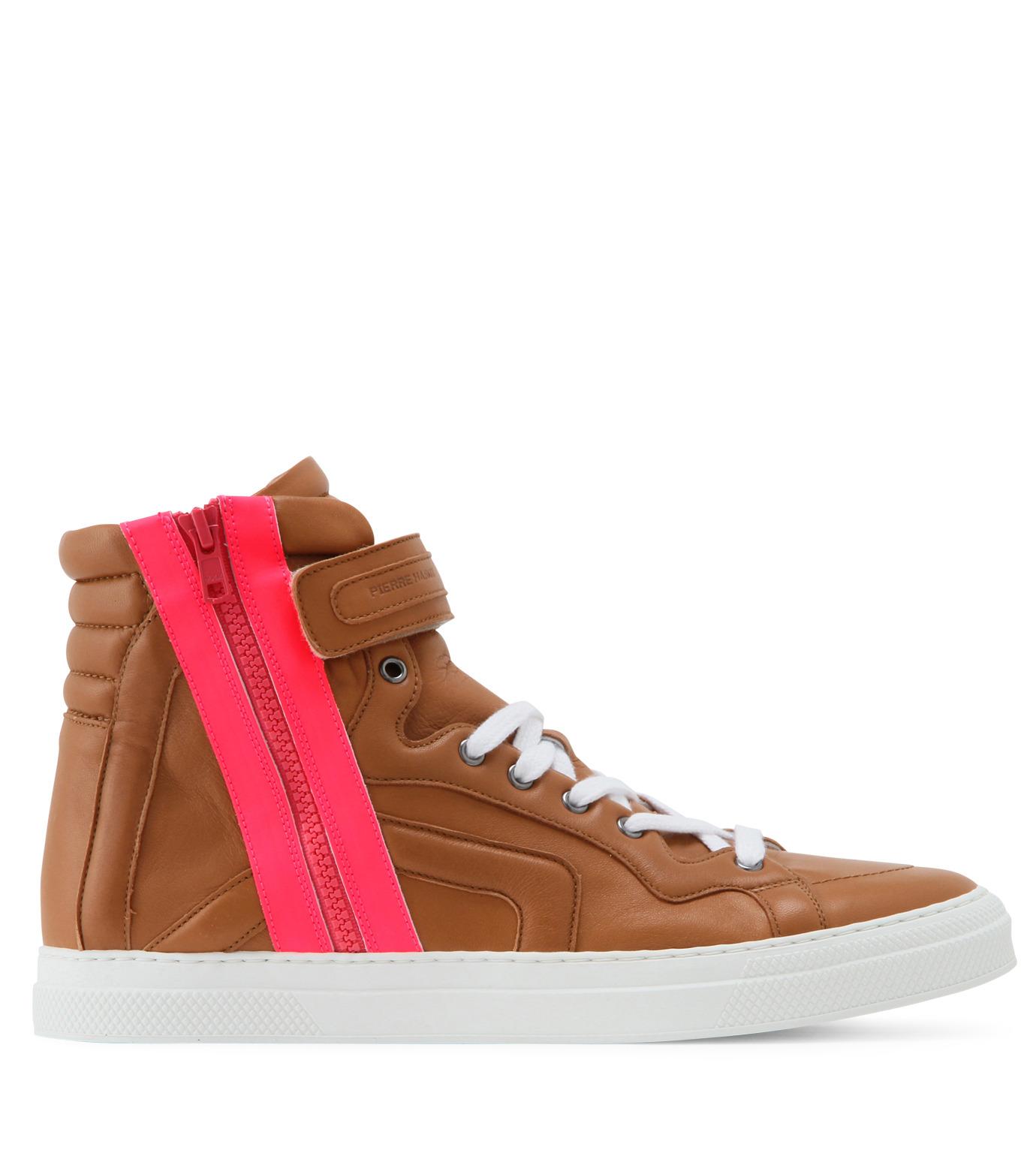 Pierre Hardy(ピエール アルディ)のSide zip sneaker-LIGHT BROWN-S3112NAPGUMC-41 拡大詳細画像1