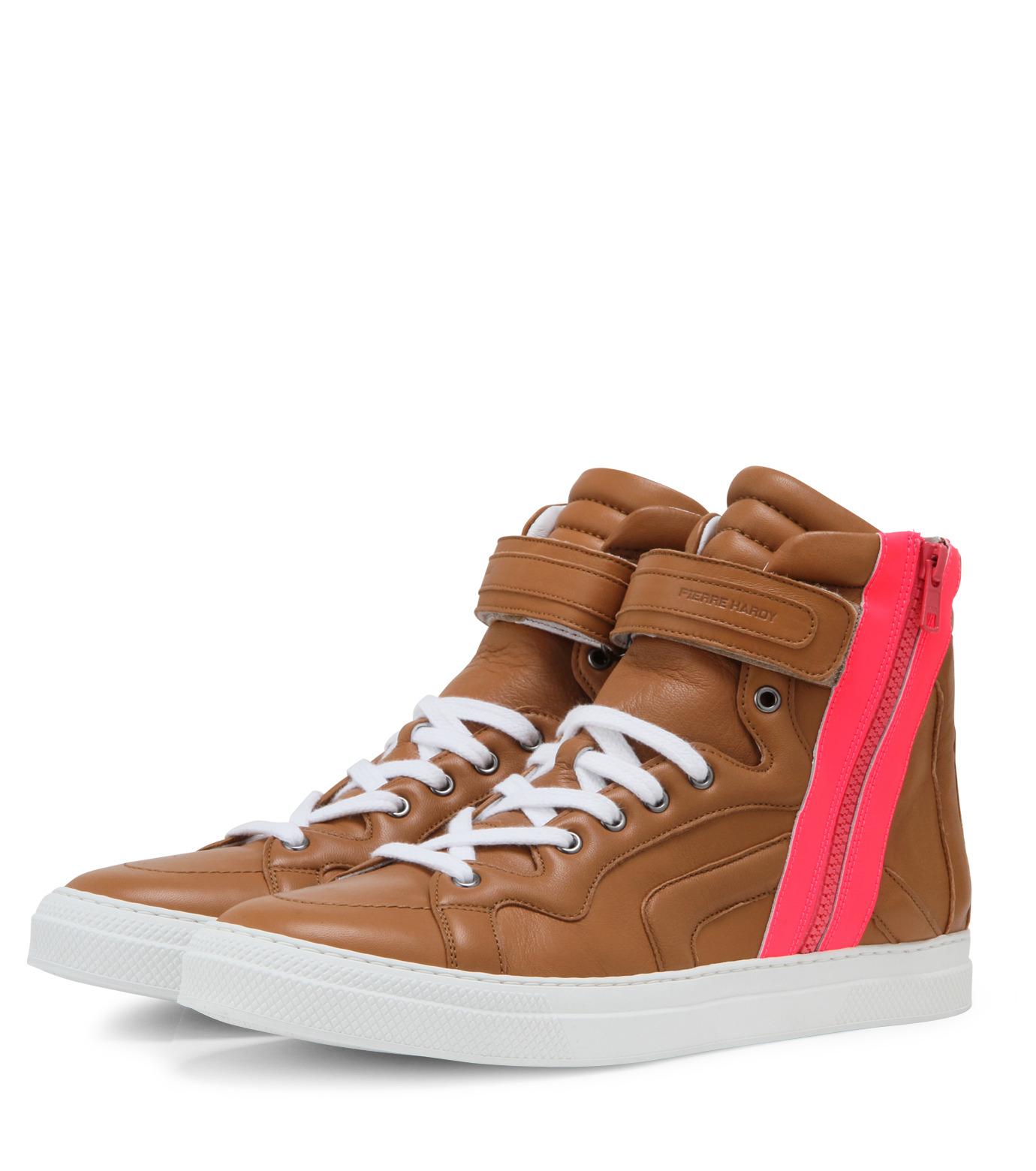 Pierre Hardy(ピエール アルディ)のSide zip sneaker-LIGHT BROWN-S3112NAPGUMC-41 拡大詳細画像4