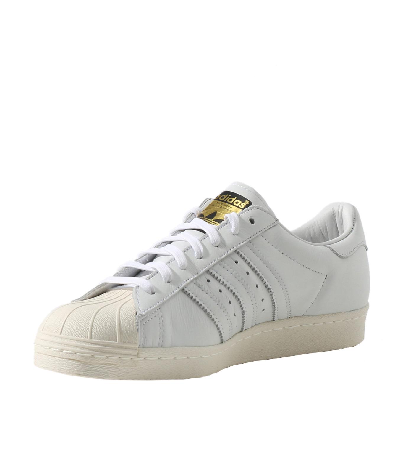 adidas(アディダス)のSUPERSTAR 80s DLX-WHITE(シューズ/shoes)-S75016-4 拡大詳細画像3