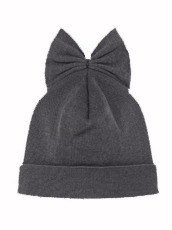 Federica Moretti Knit Cap w/Bow