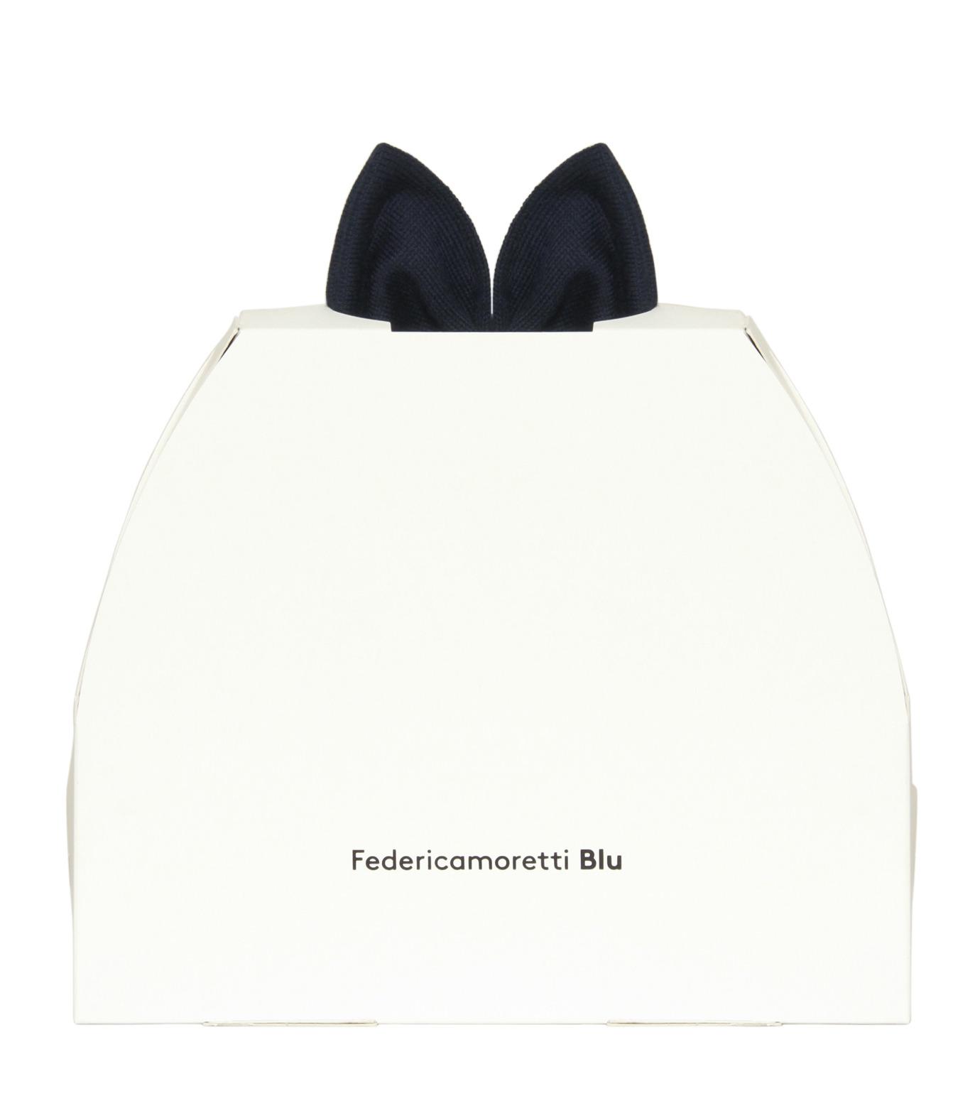 Federica Moretti(フェデリカ モレッティ)のKnit Cap w/Bow-NAVY(キャップ/cap)-SCAT-CAT-93 拡大詳細画像4