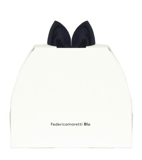 Federica Moretti(フェデリカ モレッティ)のKnit Cap w/Bow-NAVY(キャップ/cap)-SCAT-CAT-93 詳細画像4
