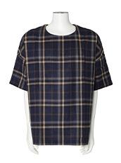 MUNSOO KWON Check Shirt Pullover