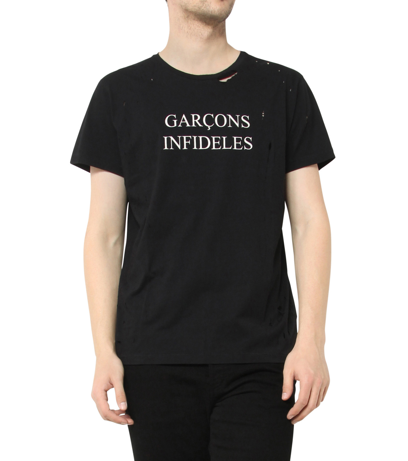 GARCONS INFIDELES(ギャルソン・インフィデレス)のLogo T-BLACK(CUT-SAWS/CUT-SAWS)-SID-13 拡大詳細画像1