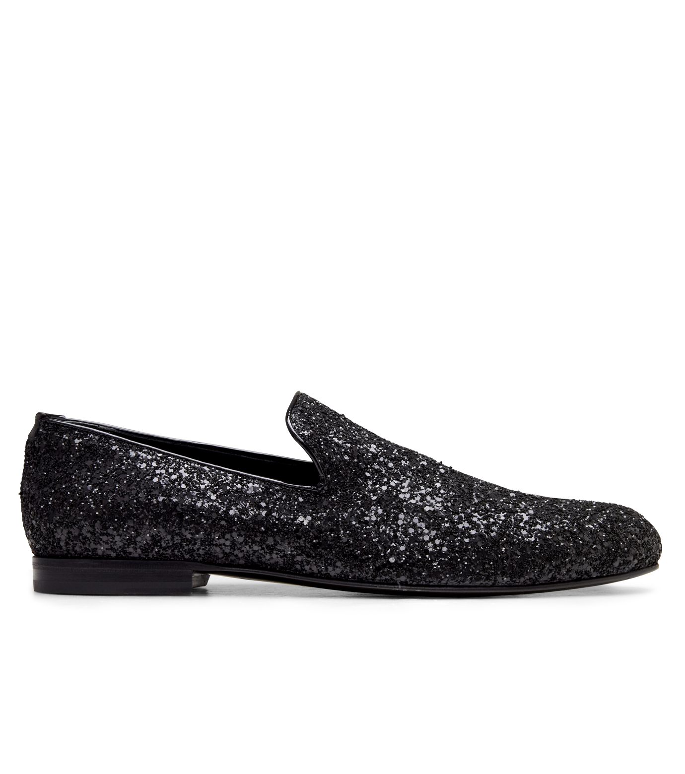 Jimmy Choo(ジミーチュウ)のGlitter Shoes-BLACK-SLOANE-CGF 拡大詳細画像1