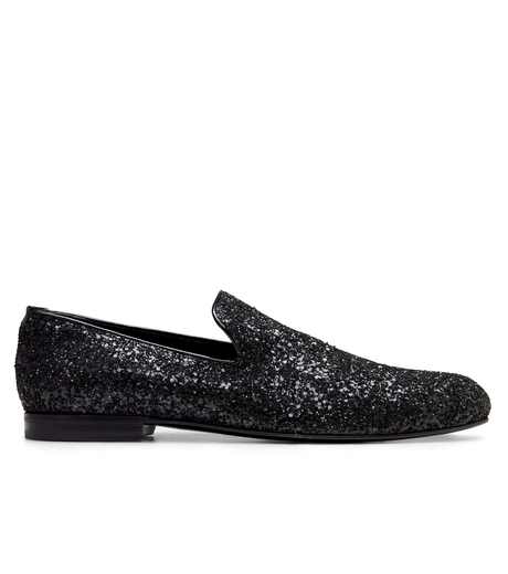 Jimmy Choo(ジミーチュウ)のGlitter Shoes-BLACK-SLOANE-CGF 詳細画像1