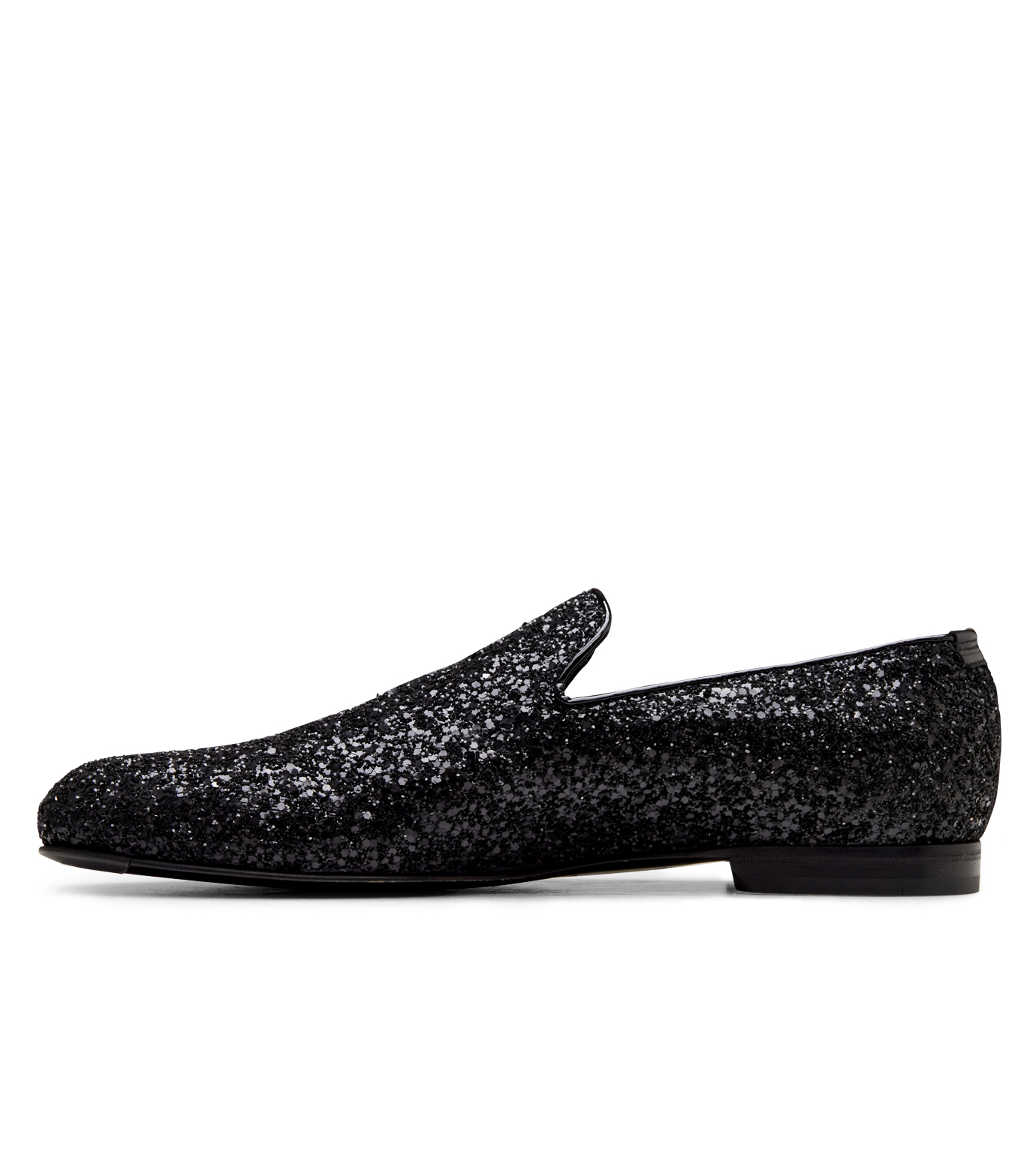 Jimmy Choo(ジミーチュウ)のGlitter Shoes-BLACK-SLOANE-CGF 拡大詳細画像2