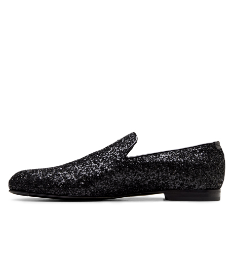 Jimmy Choo(ジミーチュウ)のGlitter Shoes-BLACK-SLOANE-CGF 詳細画像2