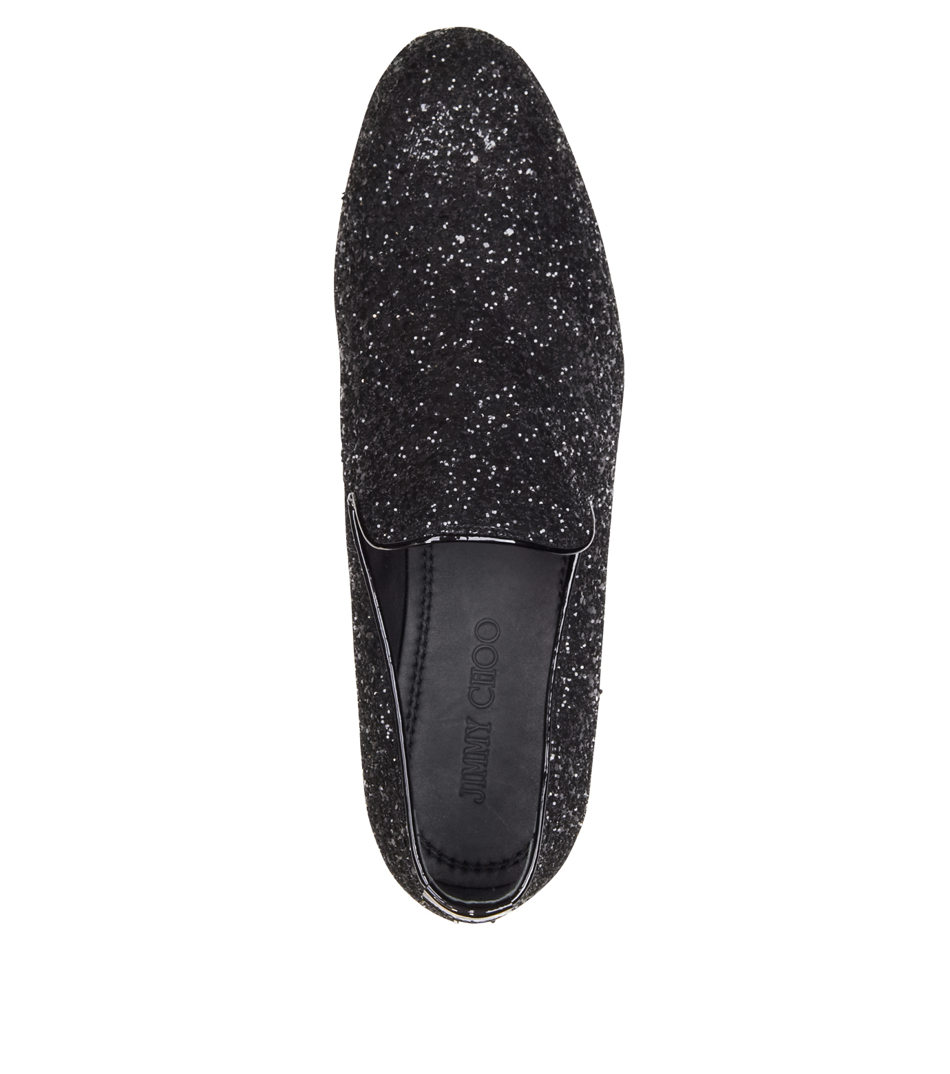 Jimmy Choo(ジミーチュウ)のGlitter Shoes-BLACK-SLOANE-CGF 拡大詳細画像4