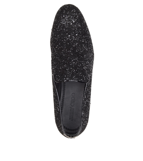 Jimmy Choo(ジミーチュウ)のGlitter Shoes-BLACK-SLOANE-CGF 詳細画像4