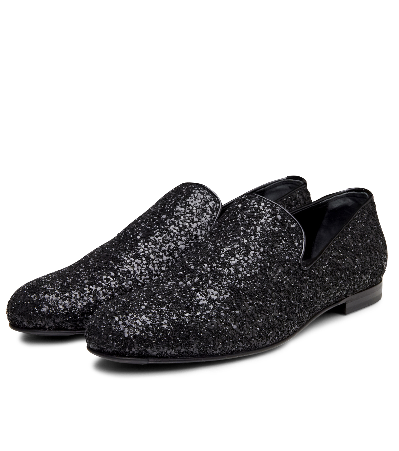 Jimmy Choo(ジミーチュウ)のGlitter Shoes-BLACK-SLOANE-CGF 拡大詳細画像5