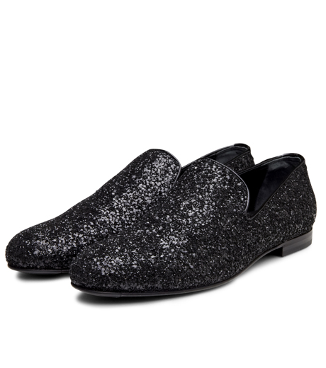 Jimmy Choo(ジミーチュウ)のGlitter Shoes-BLACK-SLOANE-CGF 詳細画像5