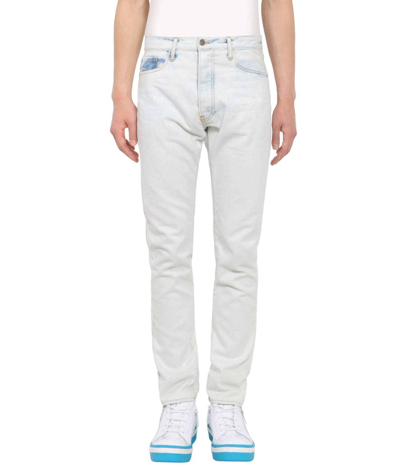 ROUNDEL LONDON(ラウンデル ロンドン)のSUBURBAN DNM-WHITE(パンツ/pants)-SMRLAM60057-4 拡大詳細画像1